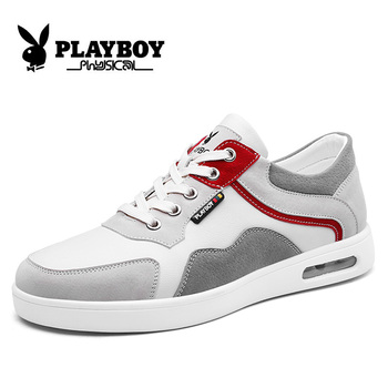 PLAYBOY New Footwear Fashion Men's Casual Shoes Spring & Autumn Male Shoes Leather Sneakers Men Flats Zapatillas PZ2930009