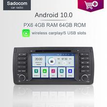 7 #8222 PX6 1 din Android 10 0 samochodowy odtwarzacz DVD odtwarzacz 6 rdzeń 64GB ROM 4GB RAM radio samochodowe GDS autoradio dla BMW E39 X5 E53 M5 Range Rover tanie tanio Sadocom CN (pochodzenie) Jedno złącze DIN 4*45W System operacyjny Android 10 0 DVD-R RW DVD-RAM VIDEO CD JPEG Plastic Steel