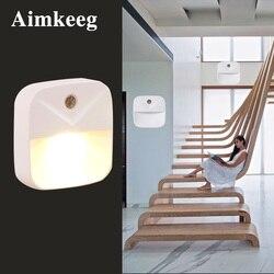 Miniluz LED de noche inalámbrica para niños, lámpara de Control con Sensor, luces de pared con enchufe europeo y estadounidense, iluminación para dormitorio, sala de estar y escaleras