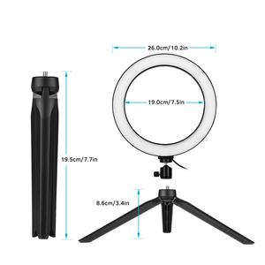 Image 2 - Photography 10 Inch LED Ring Light Tripod Stand Remote Control 3200K 5500K Dimmable Ringlight for tik tok Video Live Stream