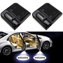 1 шт. светодиодный Автомобильный Дверной лазерный проектор с логотипом Ghost Shadow, светильник, беспроводной для Volkswagen Ford BMW Toyota hyundai Kia Mazda Audi
