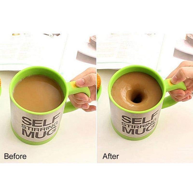 400 Ml Automatische Koffie Mok Roeren Cup Elektrische Lazy Zelf Roeren Mok Cup Koffie Sap Mengen Mok Smart Drinkware Voor thuis - 2