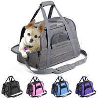 Portador do cão portátil pet mochila mensageiro gato portador de saída pequeno cão saco de viagem lado macio respirável portador do animal estimação para o gato