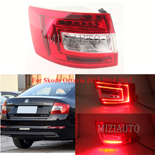 MIZIAUTO Rear tail light For Skoda Octavia 2015 2016 2017 Brake Light Rear Bumper Light Warning Light Fog lamp Stop Lamp right light for skoda octavia a7 sedan octavia a7 combi 2013 2014 2015 2016 2017 car styling front halogen fog light fog lamp