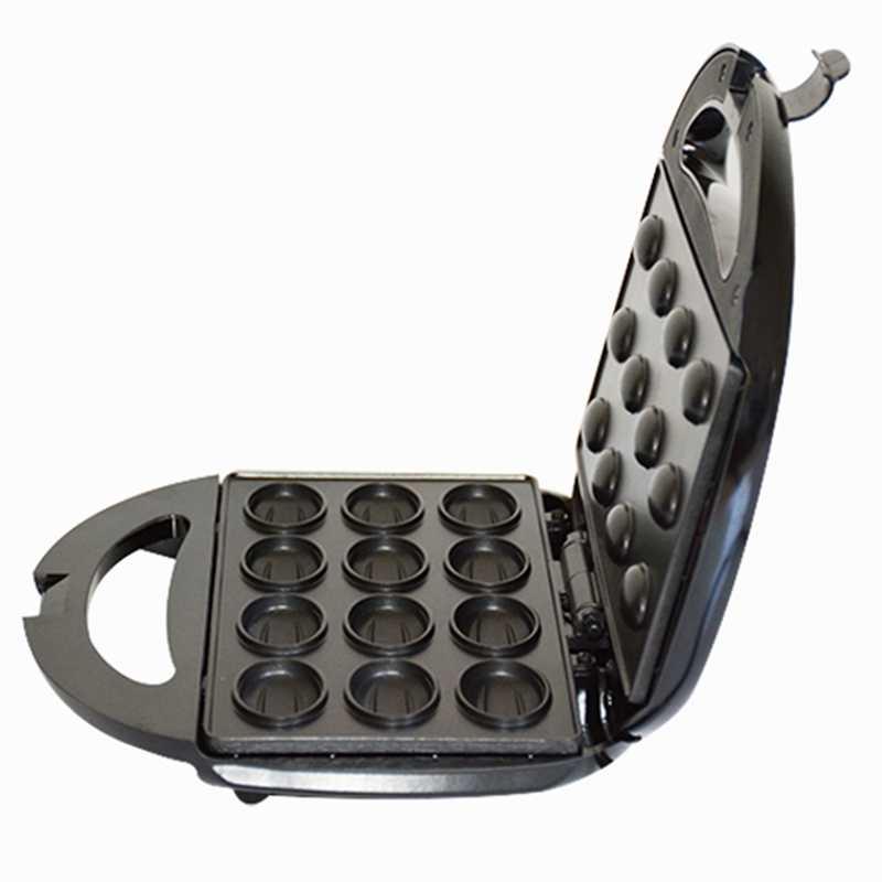 Máquina automática para hacer pasteles de nueces y nueces máquina de pan de gofres sándwich tostadora de hierro para hornear sartén para el desayuno horno enchufe de la UE