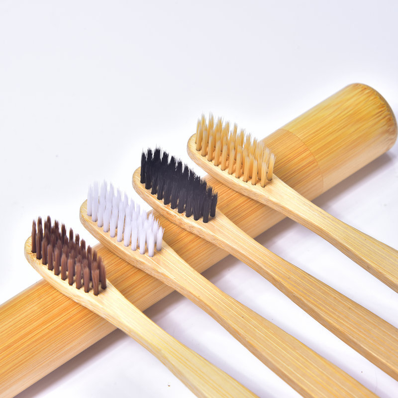 Sale Wooden Natural Bamboo Toothbrush Adult Women Men Care Teeth Cleaning Soft Brushes