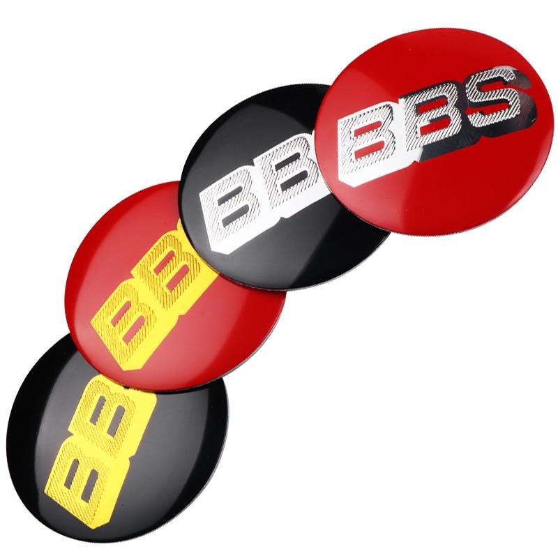 4pcs 56MM Aluminum Logo BBS Car Wheel Center Caps Cover Emblem Badge Decoration Stickers For BBS Car Styling