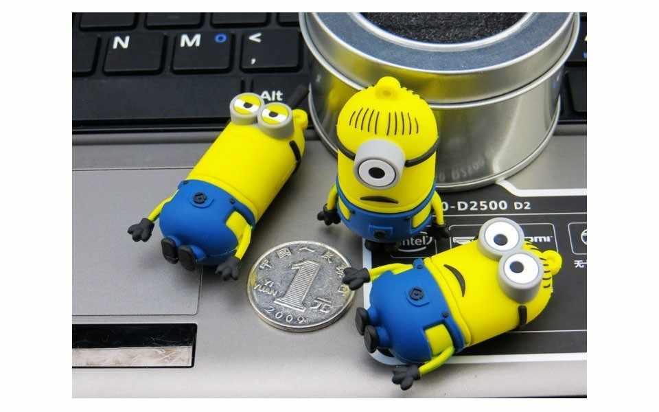 การ์ตูน USB แฟลชไดรฟ์ 4GB 8GB 16GB 32GB 64GB 128GB USB Stick ขนาดเล็กน่ารัก pendrive 2.0