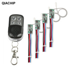QIACHIP 433 MHz kablosuz uzaktan kumanda anahtarı alıcı modülü 3.6V 12V 24V ve 433 MHz verici uzaktan kontrol için ışık LED