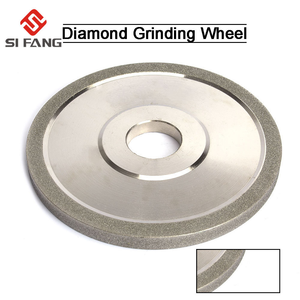 150mm Diamond Grinding Wheel For Metal Milling  Electroplated Flat Diamond Disc Sharpening Accessories 100/150/180#