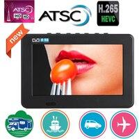 Leadstar 7 polegada portátil mini tv completa compatível com atsc h265/hevc dolby ac3 atsc t decodificador 800x480 suporte tf cartão usb