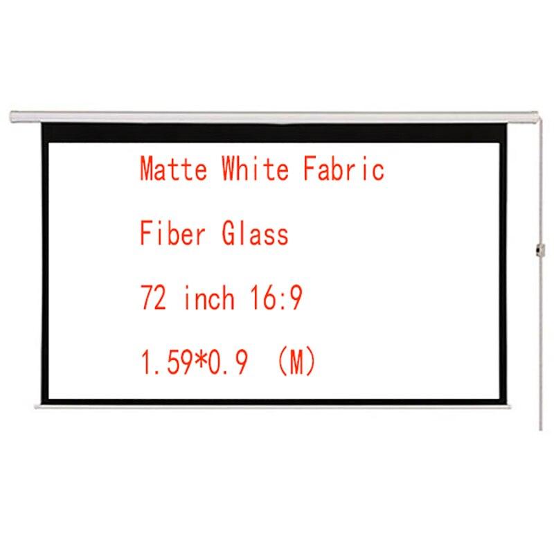 Thinyou 72 pouces 16:9 mat blanc tissu Fiber de verre écran motorisé pour LED LCD DLP Laser projecteur écran de projecteur électrique