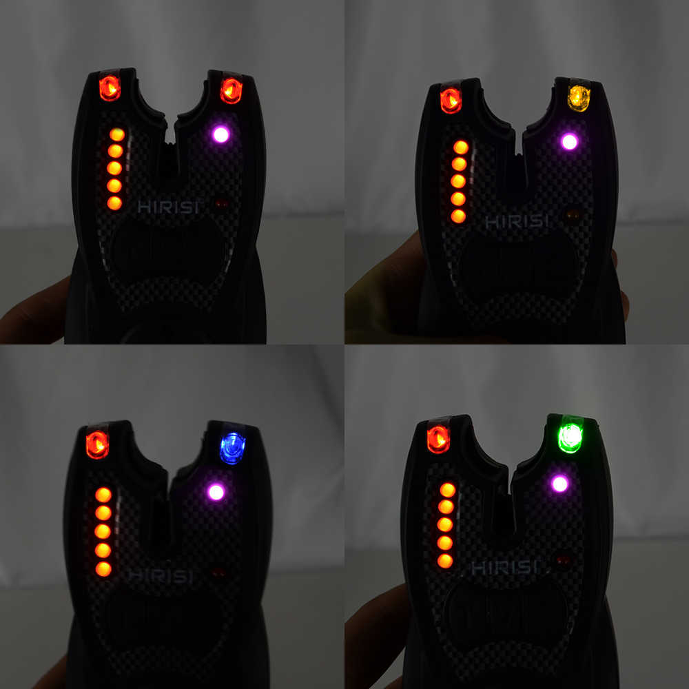 2pcs Digital LED Fishing Bite Alarms with LED Band Carp Fishing Bite Indicator