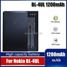 BL-4UL Li-ion polimer pil 1200mAh Nokia Asha 225 için Asha225 RM-1011 RM-1126 RM 1011 1126 BL 4UL cep telefonu pil
