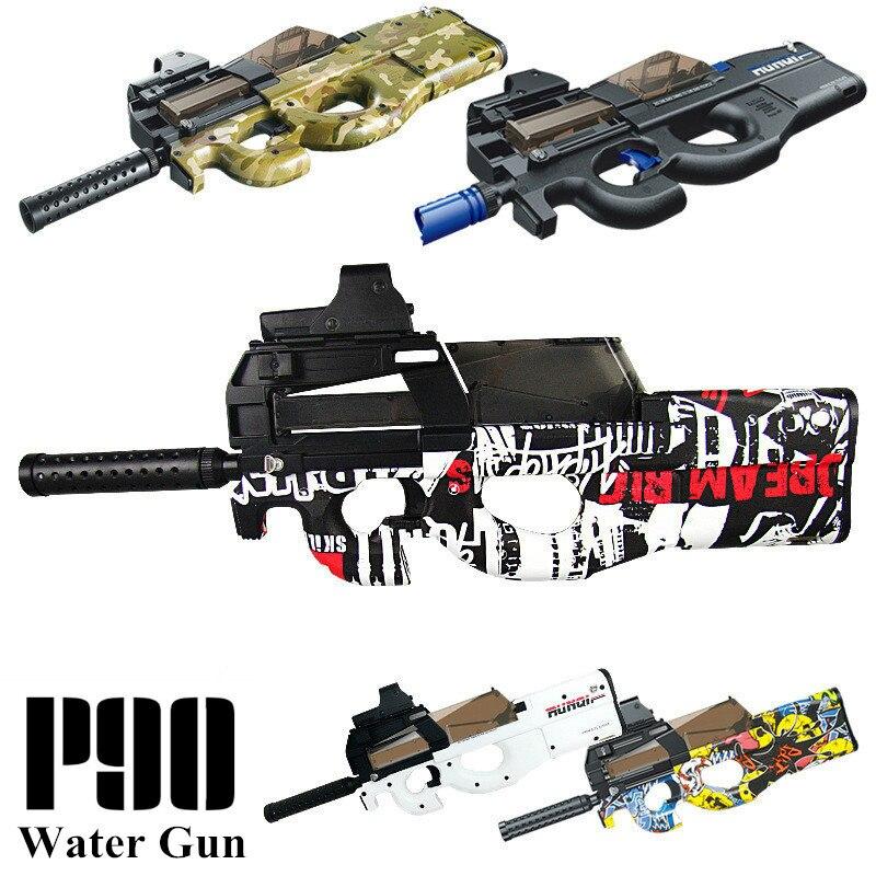 P90 Electric Toy GUN Water Bullet Bursts Gun Live CS Assault Snipe Weapon Outdoor Pistol Toys