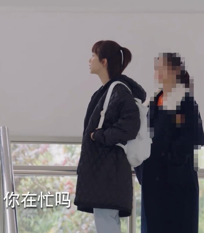 Cher, amour de Yang Zi Tong années célébrité Style mi-long noir et blanc avec motif coton manteau 2019 duvet plume coton-pa