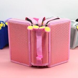 Image 5 - 5 Level Color Nylon Waterproof Pencil Case Five Layer Large Capacity Pencil Box Cute Pencilcase Kids School Stationery