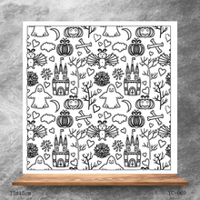 ZhuoAng Halloween element Clear Stamps/Silicone Transparent Seals for DIY scrapbooking photo album Stamps