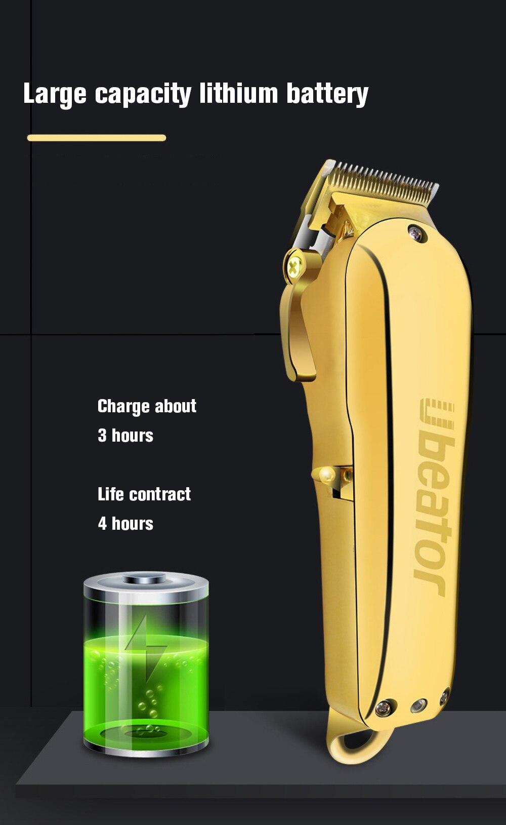 fio para homens poderosa máquina de corte de cabelo