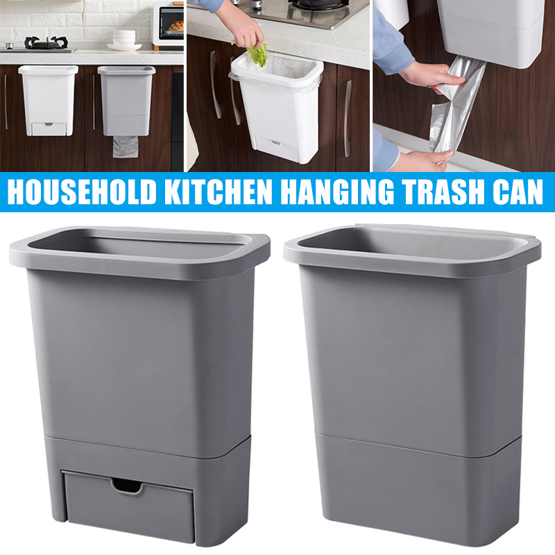 Kitchen Cabinet Door Hanging Trash Garbage Bin Can Rubbish Container Kitchen Accessories LAD-sale