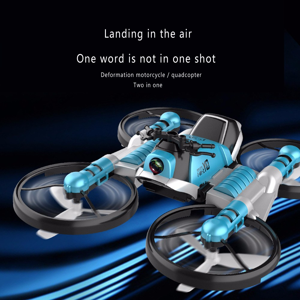 S91 Drone Creative RC Motorcycle And Drone 2.4G WiFi Dual-Mode Transforming Motorbike Quadcopter 1080 HD Camera  RC Drone