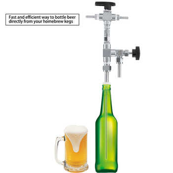 Piwa butelka wypełniacz 304 lada ze stali nierdzewnej ciśnienie piwa butelka wypełniacz domowe warzenie CO2 do parzenia piwa zestaw tanie i dobre opinie Other Filtry lejki i Imbryk