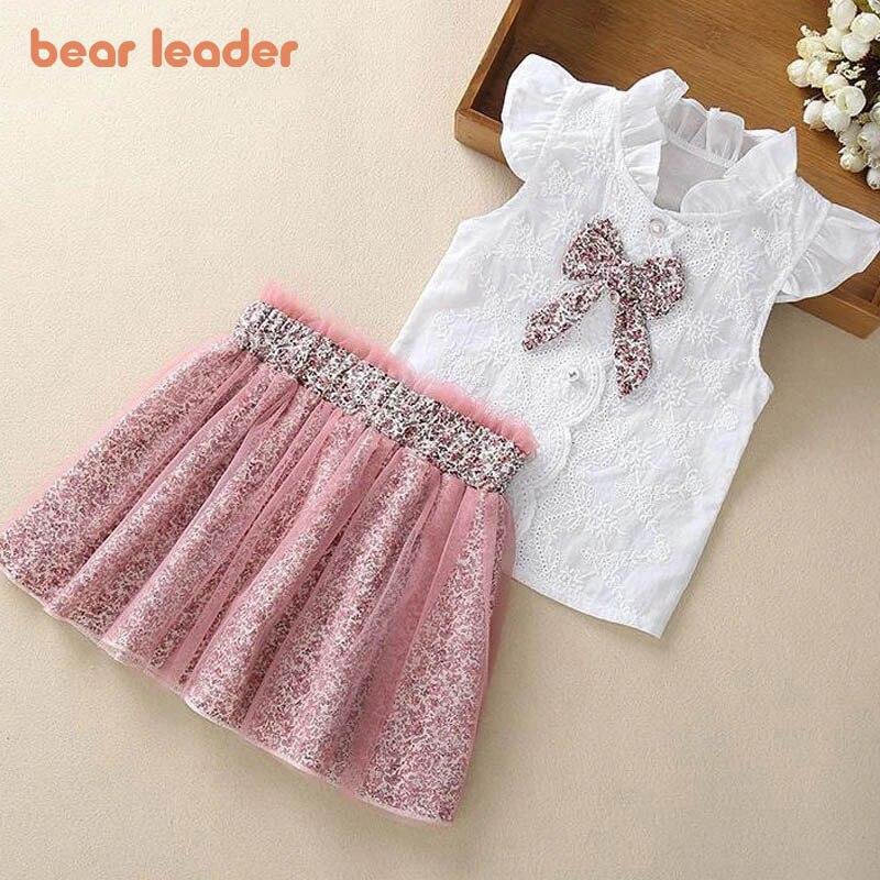 Bear Leader Girls Clothing Sets New Summer Sleeveless T shirt+Print Bow Skirt 2Pcs for Kids Clothing Sets Baby Clothes Outfits|girls clothing|children clothinggirls clothing sets - AliExpress