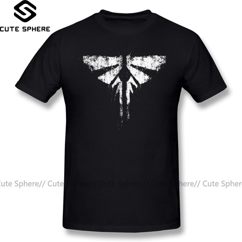 The Last Of Us T Shirt The Last Of Us Fireflies T-Shirt 4xl Cotton Tee Shirt Graphic Fashion Short-Sleeve Male Funny Tshirt