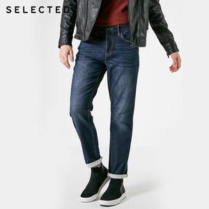 SELECTED Men's Fit Jeans Autumn & Winter Cotton Clothes Slight Stretch Fading Straight Denim Pants C | 418432529