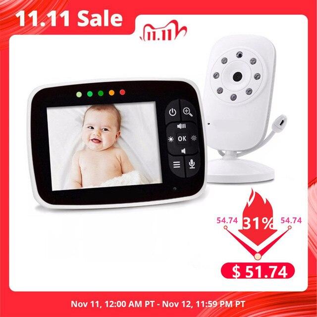 הכי חדש תינוק צג, 3.5 אינץ LCD מסך תצוגת תינוקות ראיית לילה מצלמה, שתי דרך אודיו, טמפרטורת חיישן, מצב ECO, שירי ערש