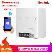 Sonoff Mini R2/Basic DIY Smart Switch Small Ewelink Remote Control Wifi Switch Support An External Work with Alexa Google Home