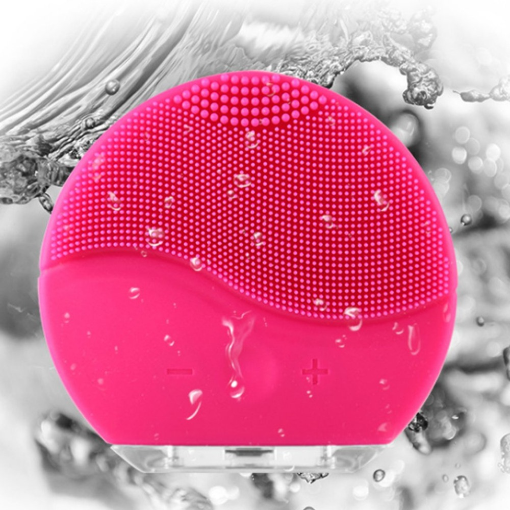 Mini USB Waterproof Electric Face Facial Cleansing Brush 3 In 1 Foreoing Silicone Sonic Cleaner Deep Pore Cleaning Skin Massage
