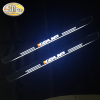 SNCN 2PCS Acrylic Moving LED Welcome Pedal Car Scuff Plate Pedal Door Sill Pathway Light For Kia Forte Koup