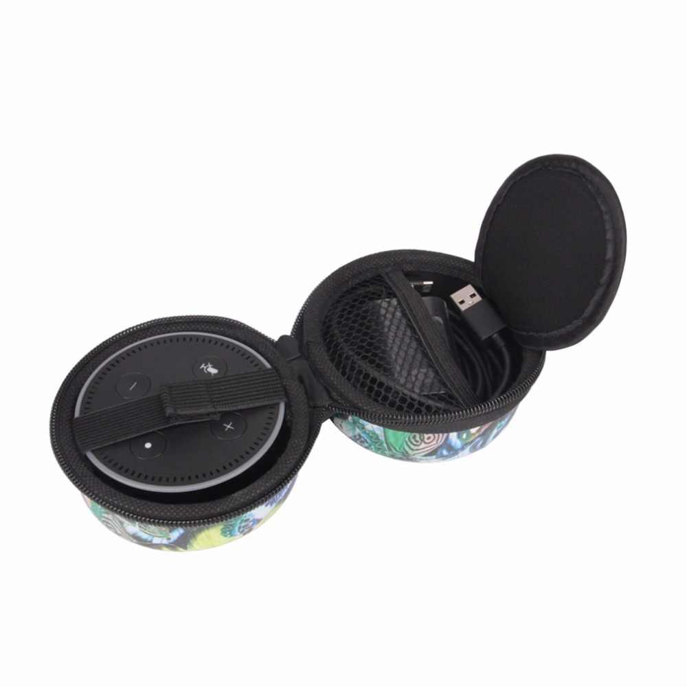 Twardej pianki EVA, odporna na wstrząsy, odporna na kurz, do przenoszenia pokrowiec ochronny Case Box do SMT dla Echo Dot 2nd generacji