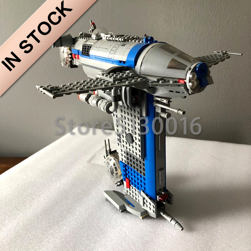 In Stock 05129 Star Series Wars The Resistance Bomber 873Pcs Star Wars Seriers Model Building Blocks Compatible With 75188 Toys
