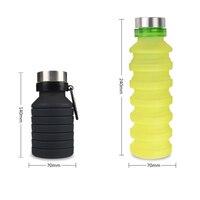 550 ml silicone dobrável copo de café bebendo garrafa de viagem ao ar livre copo dobrável ena88|Garrafa de água p/ bicicleta|Esporte e Lazer -