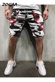 цена на ZOGAA 2020 New Men's Pants Loose Casual Camo Workwear Shorts Large Size Multi Pocket Men's Five-point Outdoor Pants