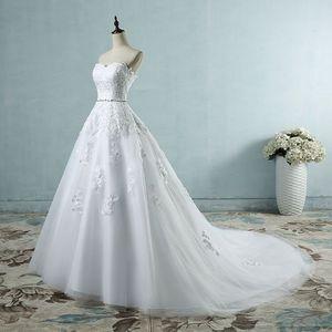 Image 1 - Gelin düğün elbisesi arka etek kombinezon Yarnless 2 çemberler elastik bel İpli ayarlanabilir Fishtail Slip etekler