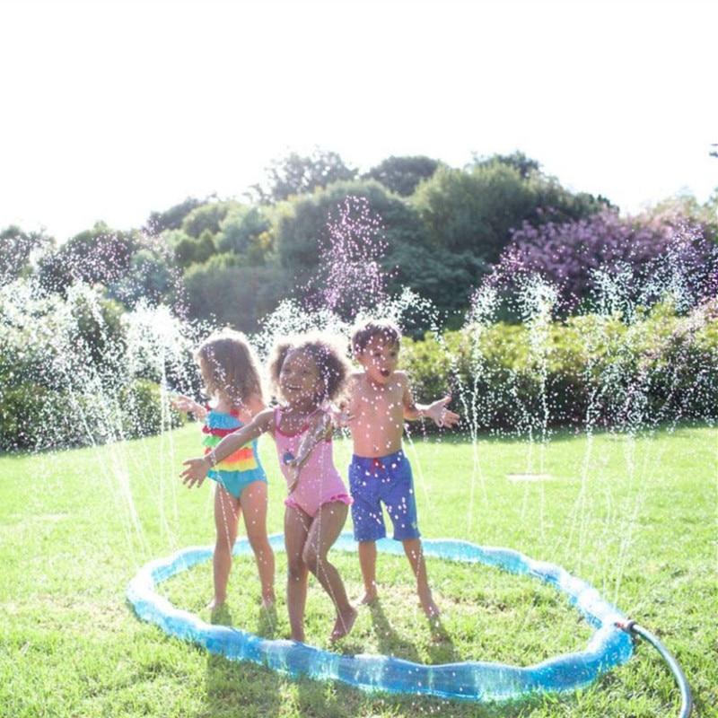 Children 's Water Spray Park Plastic PVC Inflatable Circle Cool Baby Accessories Home Sport Piscina Infantil Sprinkler For Kids