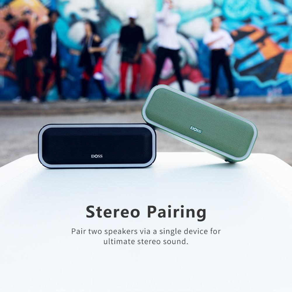 DOSS Altoparlante Senza Fili di Bluetooth Cassa di Risonanza Pro + TWS 24W Impressionante Suono con Bassi Profondi Colori Misti Luci Vero Stereo suono - 5