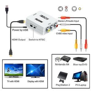 Rca Naar Hdmi 1080P Mini Rca Composiet Cvbs Av Naar Hdmi Video Audio Converter Adapter AV2HDMI Ondersteuning Pal Ntsc