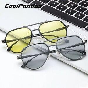 Image 2 - Солнцезащитные очки CoolPandas для мужчин и женщин UV 400, авиаторы с фотохромными линзами, антибликовые, для вождения