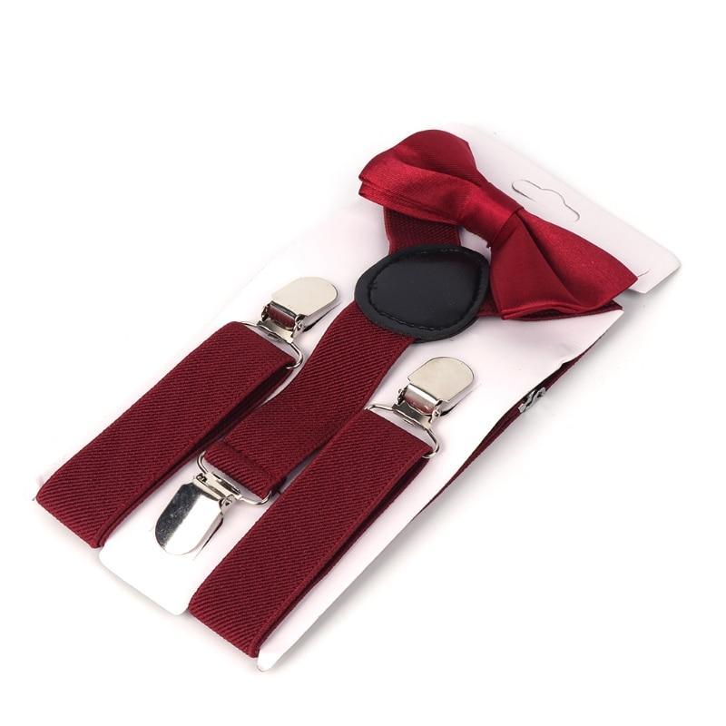 Kids Suspenders Suit Adjustable Elastic Tie Baby Outfit Boys Girls Brace Fashion 85WB