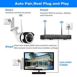 Yeni kablosuz CCTV sistemi 720P 1080P 2MP NVR IP IR-CUT açık güvenlik kamerası IP güvenlik sistemi Video gözetim kiti