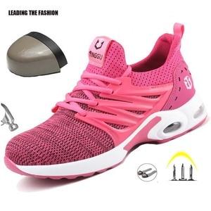Image 1 - Dropshipping Onverwoestbaar Ryder Schoenen Mannen En Vrouwen Stalen Kop Ademend Veiligheid Laarzen Anti Lek Sneakers Ademende Schoenen