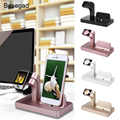 Besegad 2in1 Charging Stand Dock Holder Station for Apple Watch iWatch i Wach iwach Series 1 2 3 4 iPhone 6 S 7 8 X plus Gadgets