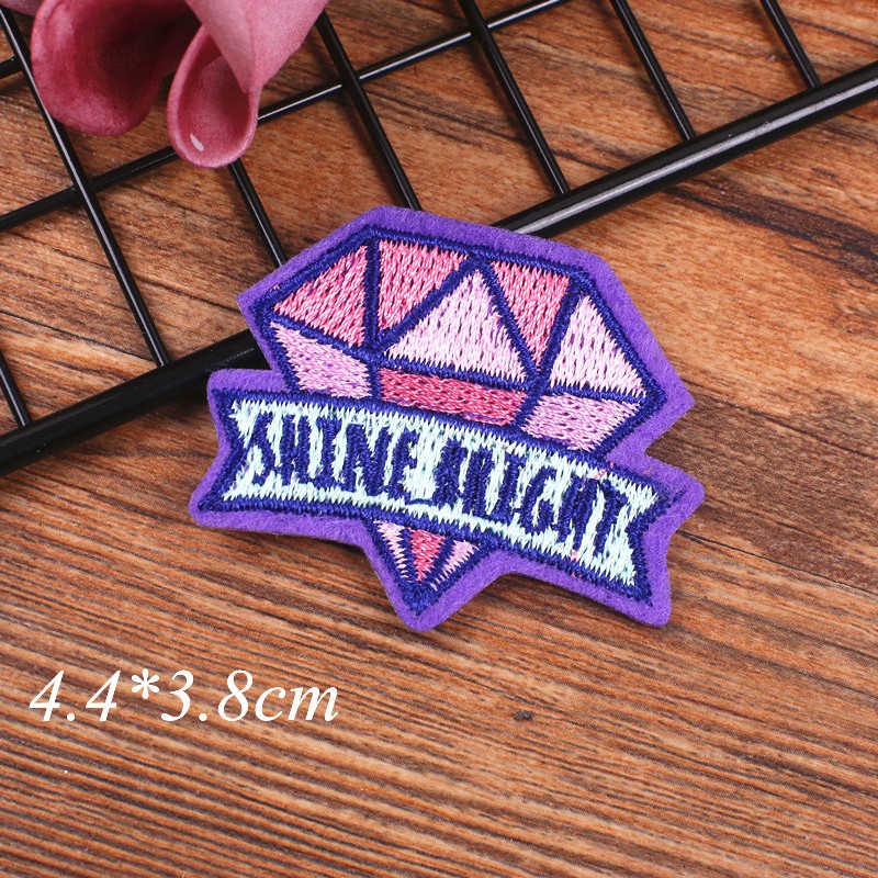 Fijne Diamanten Veer Blingbling Sticker Iron Op Patch DIY Jeans T-shirt Patches Kleding Droom Mode Vrouwen Accessoires