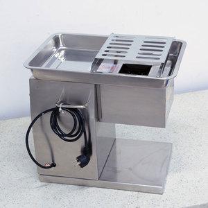 Image 5 - 상업 스테인레스 스틸 고기 슬라이서 큐브 고기 다진 기계 Flaky 고기 절단 기계 전기 고기 슬라이서 커터 220V