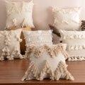 Наволочка в стиле бохо с бахромой, декоративная подушка, богемный, марокканский, бежевый хлопок, наволочка для дивана, украшение для дома 30x50...