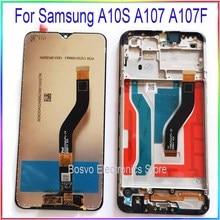 สำหรับ Samsung A10S หน้าจอ LCD A107F A107F/DS กับ TOUCH FRAME ASSEMBLY อะไหล่ซ่อม